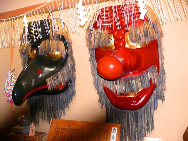 天狗の麺で有名な神社